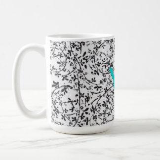 Ditsy2 monogram coffee mug