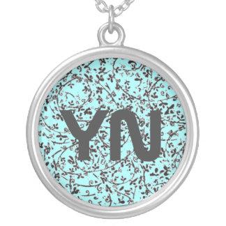 Ditsy2 monogram necklace