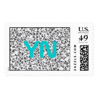Ditsy2 monogram postage stamps