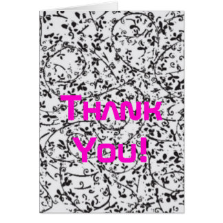 Ditsy2 Thank You Card