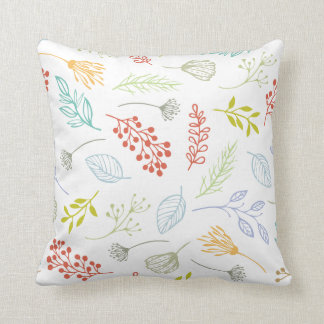 Ditsy Abstract Floral Background | Throw Pillow