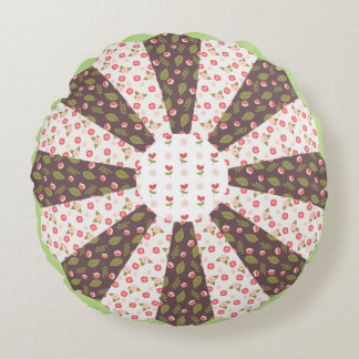 Ditsy Floral Patchwork Rosette Cushion
