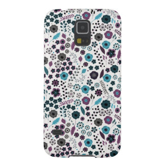 Ditsy Floral Pattern in Blue and Purple Galaxy S5 Case