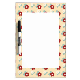Ditsy Floral Pattern Maroon Teal and Buff Dry-Erase Board