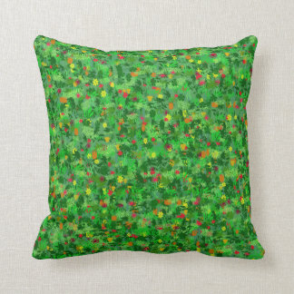 Ditsy Flower Field Throw Pillow