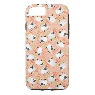Ditsy Sheep Blush Coral Pink / Andrea Lauren iPhone 7 Case