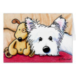 Ditto & Pudge Westie Dog Note Card