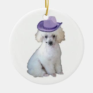 Dittzy Dogs~Original Ornament~Poodle Adorno Navideño Redondo De Cerámica
