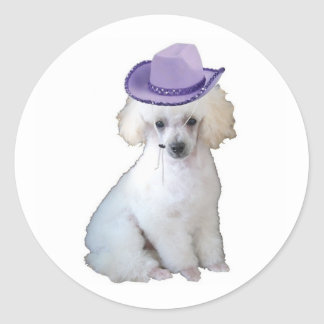 Dittzy Dogs~Original Sticker~Poodle Classic Round Sticker