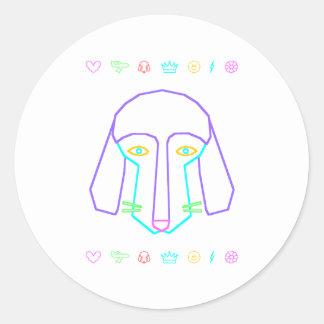 Ditzy Doggie Classic Round Sticker