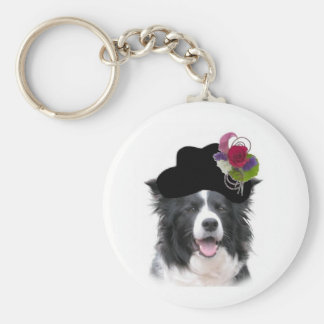 Ditzy Dogs Border Collie Keychain~Easter Keychain