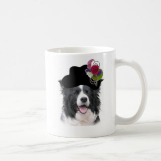 Ditzy Dogs Border Collie Mugs~Easter Classic White Coffee Mug