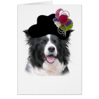 Ditzy Dogs~Border Collie Note Card~Halloween Greeting Card