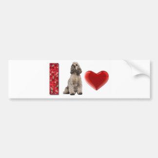 Ditzy Dogs~I Love Cocker Spaniels~Bumper Sticker Car Bumper Sticker