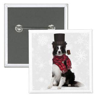 Ditzy Dogs Original Button Border Collie