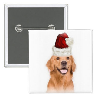 Ditzy Dogs Original Button Golden Retriever