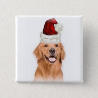 Ditzy Dogs~Original Button~Golden Retriever Pinback Button