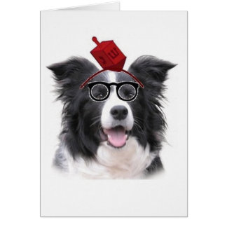 Ditzy Dogs~Original Greeting Card~Border Collie Card