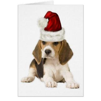 Ditzy Dogs~Original Notecard~Beagle~Christmas Greeting Cards