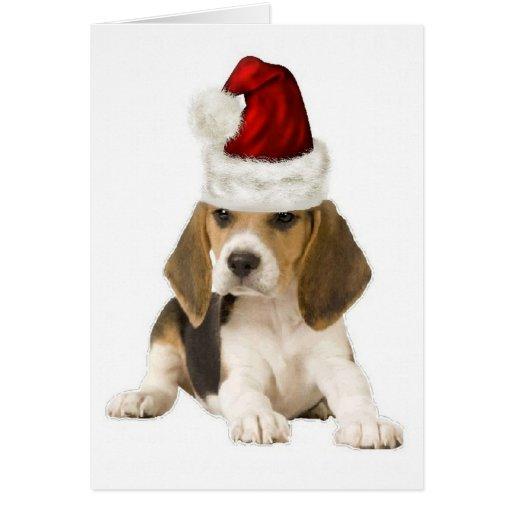 Ditzy Dogs~Original Notecard~Beagle~Christmas Greeting Card