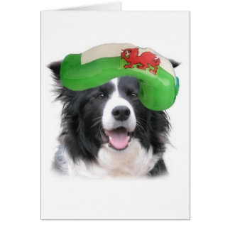 Ditzy Dogs~Original Notecard~Border Collie~Welsh Card