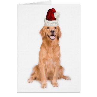 Ditzy Dogs~Original Notecard~Golden Retriever Card