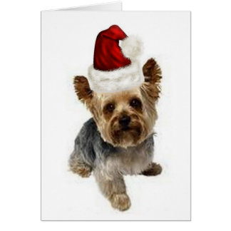 Ditzy Dogs~Original Notecard~Yorkie~Christmas Card