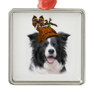 Ditzy Dogs~Original                                                 Ornament~Border Collie