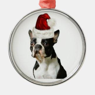 Ditzy Dogs~Original Ornament~Boston Terrier Metal Ornament