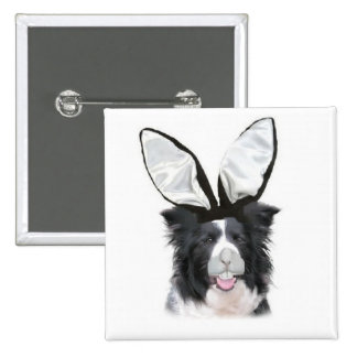 Ditzy Dogs~Original Pin~Border Collie~Easter