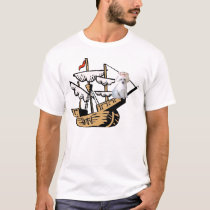 Ditzy Dogs~Original Tee~Poodle~Columbus Day T-Shirt