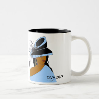 DIVA 24/7-POWDER BLUE Two-Tone COFFEE MUG