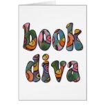 Diva 2 del libro tarjeta de felicitación