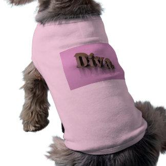 Diva 3D rosado Camisa De Mascota