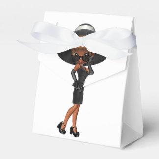 Diva afroamericana linda caja para regalos
