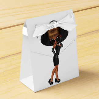 Diva afroamericana linda cajas para regalos