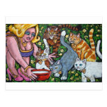 diva and her cats postcard