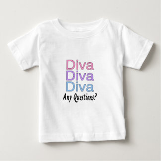 Diva Any Questions Baby T-Shirt