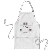 Diva apron for women | Personalizable by name