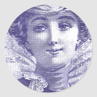 Diva atractiva del Victorian - placa de moda Pegatina Redonda