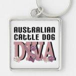 DIVA australiana del perro del ganado Llavero Personalizado
