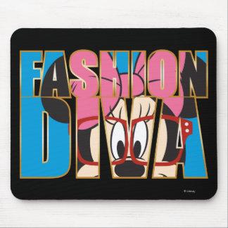 Diva azul de la moda de Minnie el | Mousepads