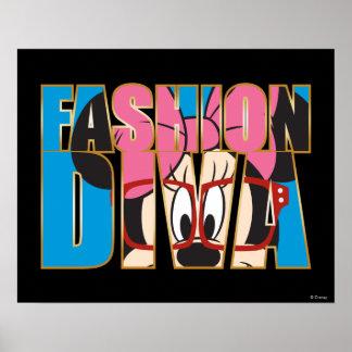 Diva azul de la moda de Minnie el | Póster