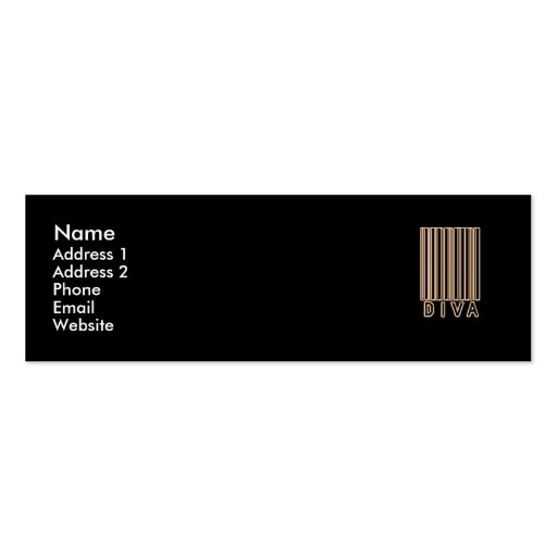 Diva Barcode Style Business Card