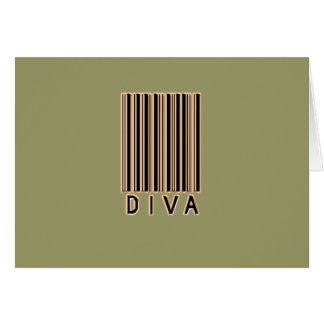 Diva Barcode Style Card