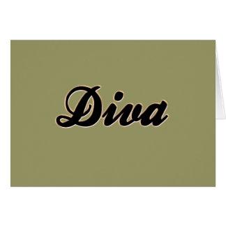 Diva Baseball Style Card