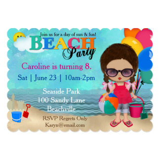 Diva Beach Party Invitation