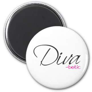 Diva-betic 2 Inch Round Magnet