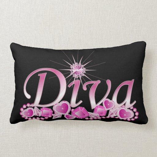 Diva Bling Throw Pillow
