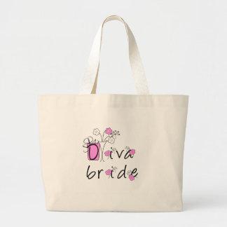 Diva Bride Large Tote Bag